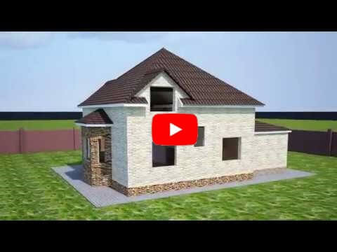Animation of house building process