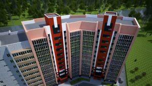 Real Estate Block Of Flats Flythrough